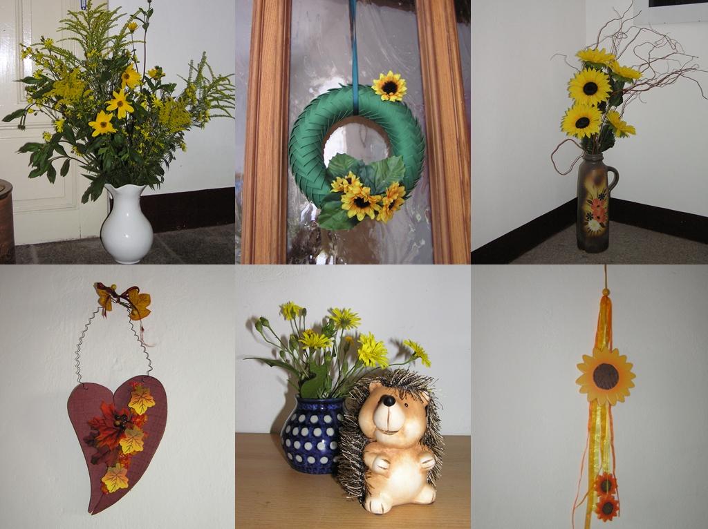 Herbstdeko Mit Sonnenblumen : Meine Verwandtschaft ist wieder ...